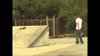 Aaron Kyro Smith up the ledge.  Brailleskateboarding.com Clip of the week 8!