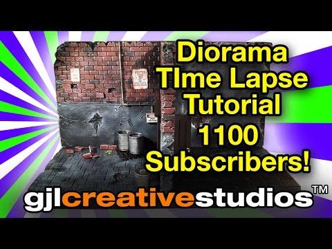 Action Figure Diorama - Time Lapse Tutorial - Dilapidated Duplex (1100 Subscribers Video)