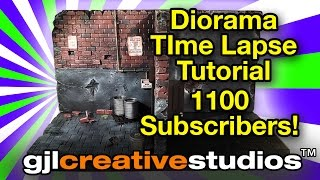 Action Figure Diorama - Time Lapse Tutorial - Dilapidated Duplex (1100 Subscribers Video)