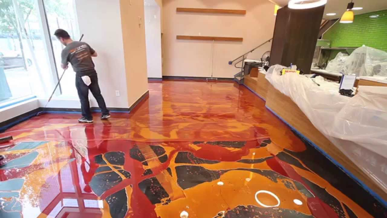 Learn to install metallic epoxy youtube for In house designer