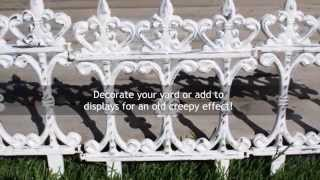 Diy Halloween Decor - Wrought Iron Fence