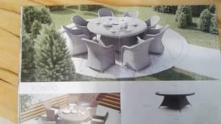 видео садовая мебель из искусственного ротанга