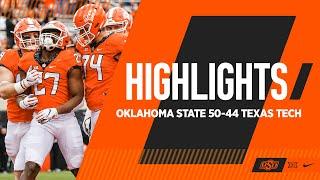 Serving Up 50-Burgers | Oklahoma State 50-44 Texas Tech | Cowboy Football Highlights