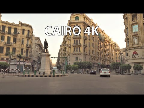 Cairo 4K - Driving Downtown - Egypt