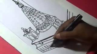 How to Draw SHIRDI SAI TEMPLE DRAWING step by step for KIDS