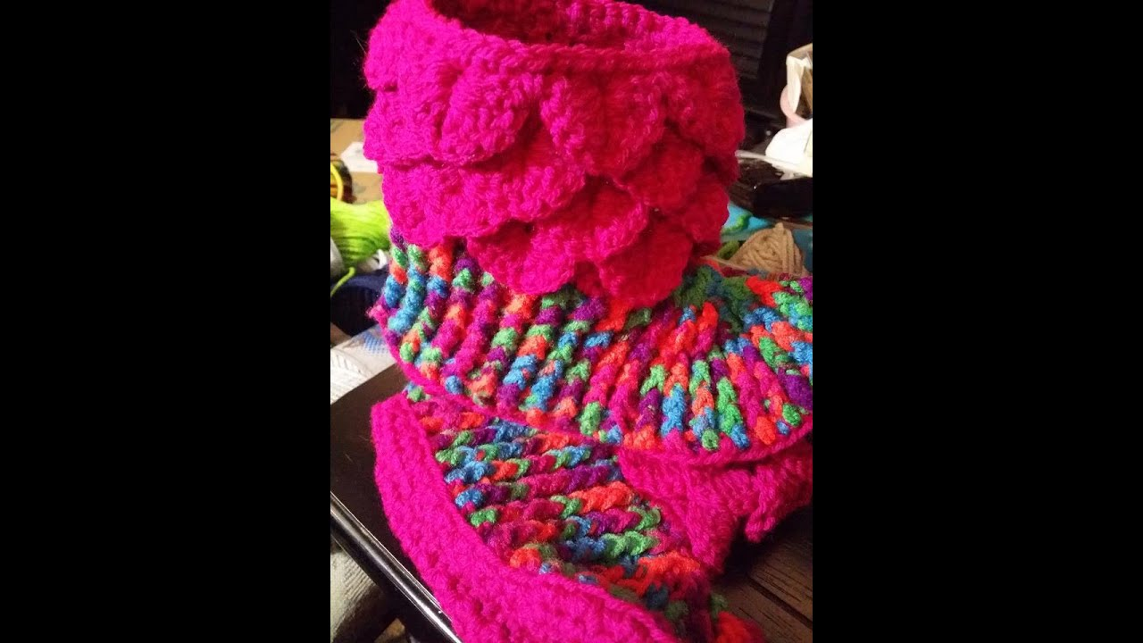 Crocodile Stitch Slipper Tutorial - The Bootie - YouTube