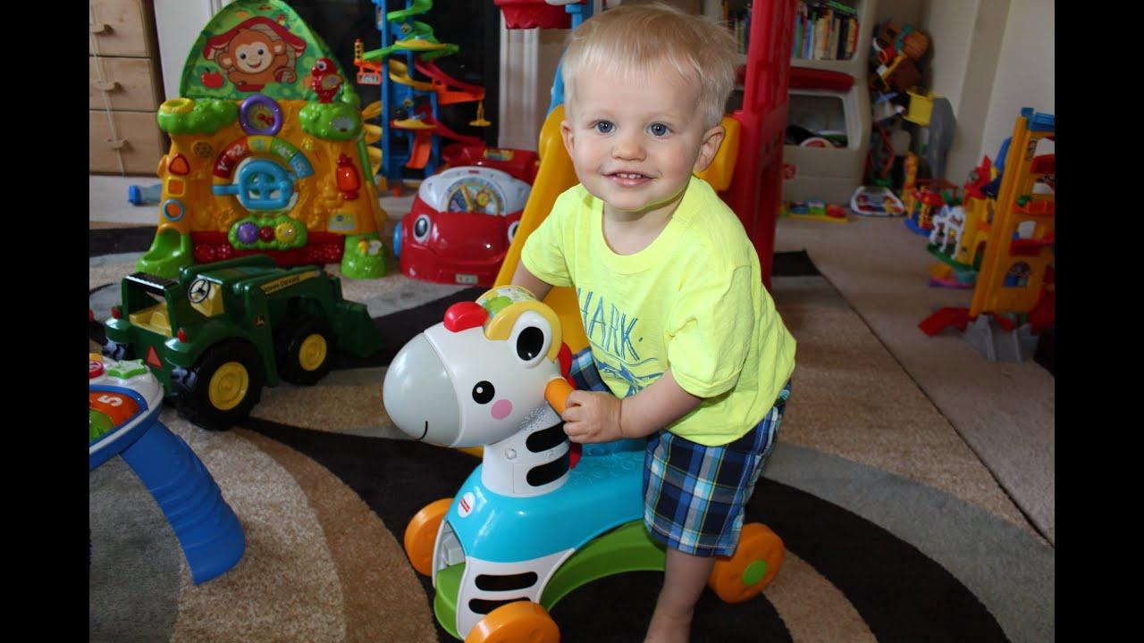Fisher Price Rollin Tunes Zebra Ride Toy