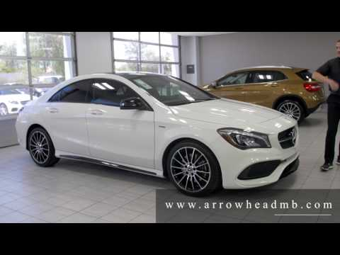 Picking up the 2018 mercedes cla 250 doovi for Mercedes benz of arrowhead reviews