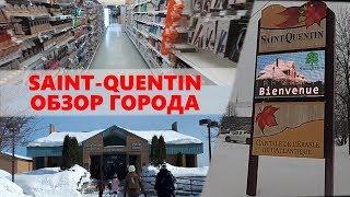 #31.Обзор канадского города с населением 2000 человек. Магазины, школы, кафе. Saint-Quentin, NB