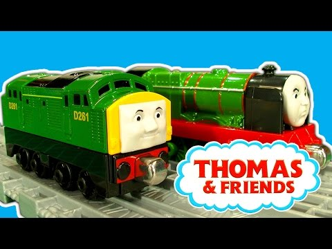 Thomas And Friends Diesel 261 & Big City Engine Take N Play Toy Train Study