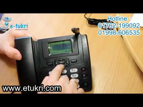 HUAWEI GSM Desktop Telephone with FM Radio ETS-3125i Black