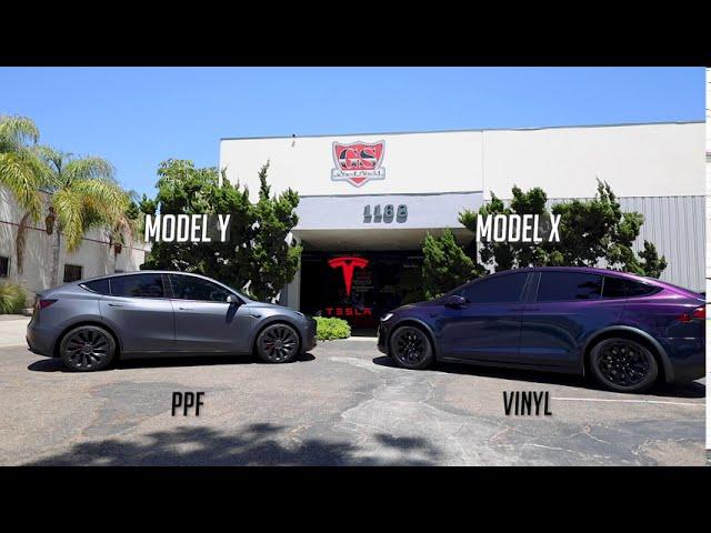 Tesla Model X Chameleon Vinyl Wrap Color Changing wrap by Ghost Shield Film