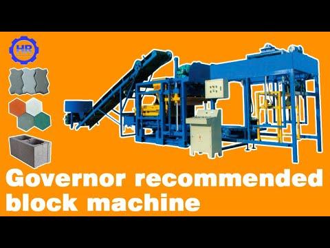 QT4-25 full automatic concrete block machine with high vibration force