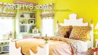 Dormitorios amarillos. Ideas, colores, decoraciones, pintura, etc.