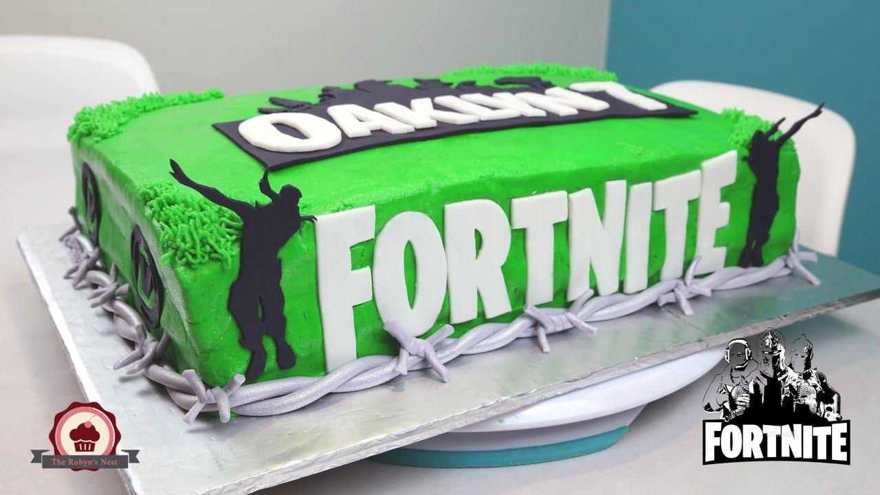 Fortnite Double Dab Birthday Cake Youtube