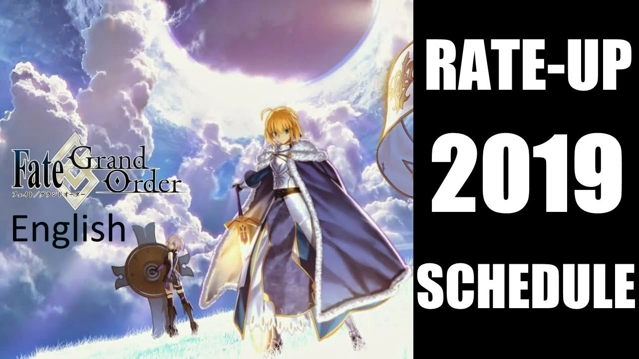 Fate/Grand Order English 2019 Summon Schedule!