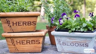 Stained Herb Boxes & Fall Crafts With Minwax #woodprojectshoa