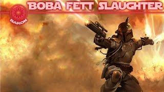 BOBA FETT KILLING SPREE - Star Wars Battlefront Gameplay