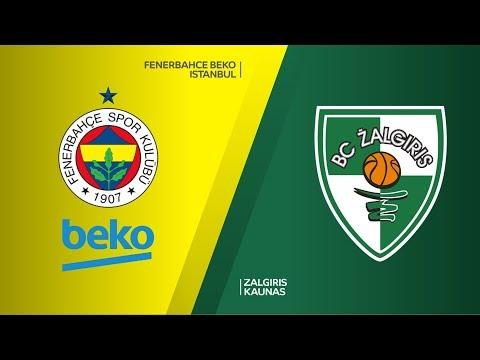 Fenerbahce Beko Istanbul - Zalgiris Kaunas Highlights | Turkish Airlines EuroLeague RS Round 18