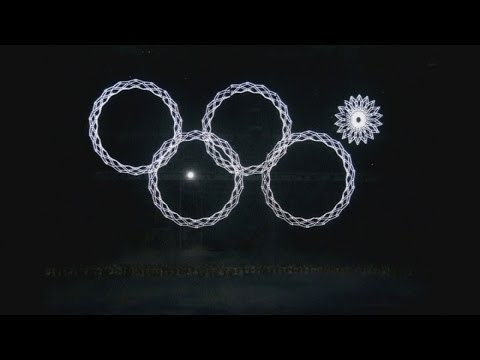 Sochi Olympics: Olympic ring fails to open at opening ceremony