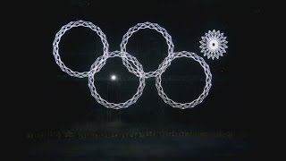 Repeat youtube video Sochi Olympics: Olympic ring fails to open at opening ceremony