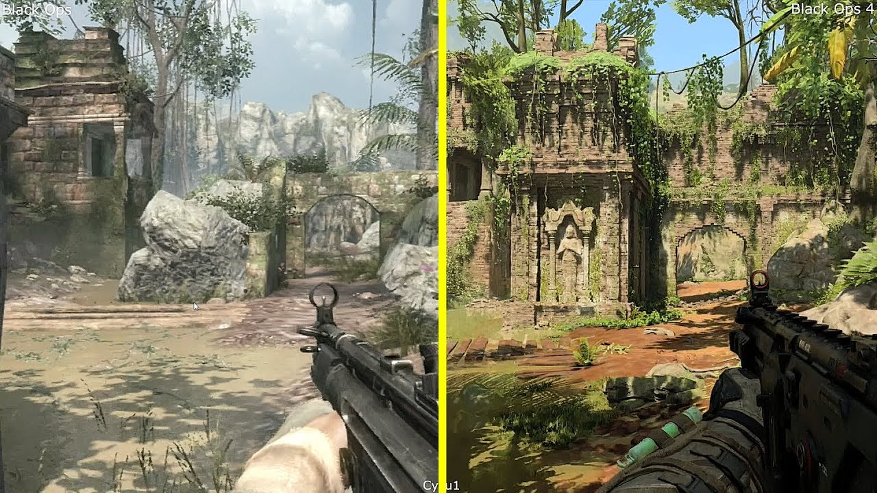 Call Of Duty Black Ops 4 Vs Black Ops 1 Jungle Map Comparison