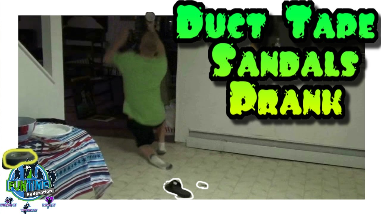 Revenge Duct Tape Sandals Prank