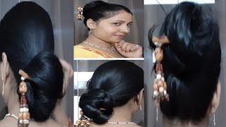 6 easy jura hairstyle with bun stick || Chinese bun ||