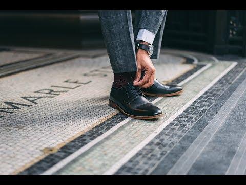 Script Waxy Black | Base London Mens Shoes