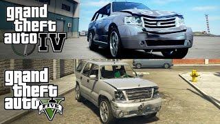 GTA V vs GTA IV [Car Damage Physics]