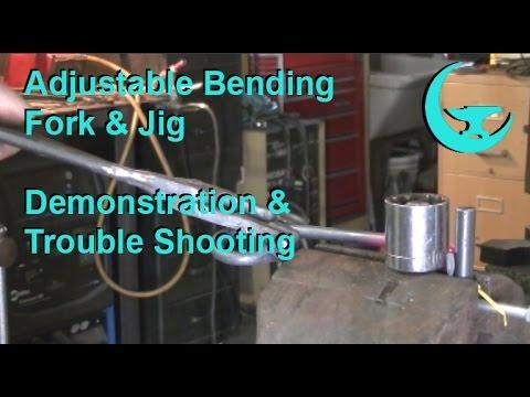 Adjustable Bending Fork & Jig Demonstration / Trouble Shooting