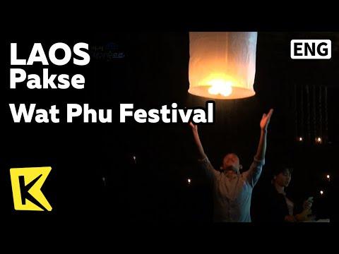 【K】Laos Travel-Pakse[라오스 여행-팍세]왓푸사원 축제/Wat Phu Festival/UNESCO/Temple/Remains/Angkor Wat/Prototype