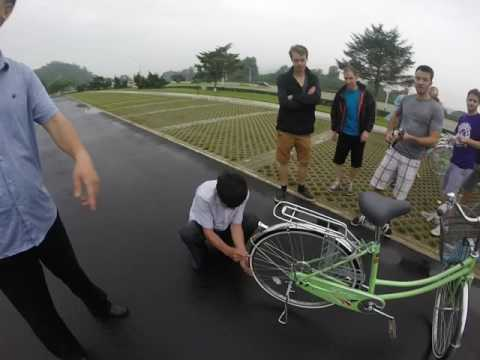 Bicycle repair man saves the day in Pyongyang