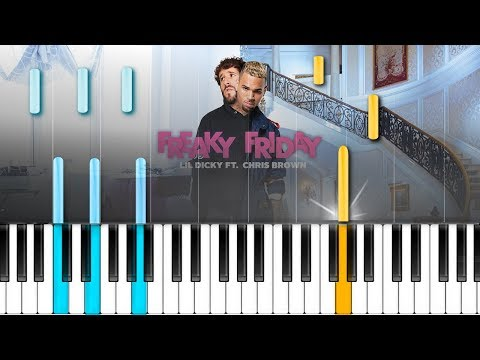 """Lil Dicky  - """"Freaky Friday"""" feat. Chris Brown  Piano Tutorial - Chords - How To Play - Cover"""