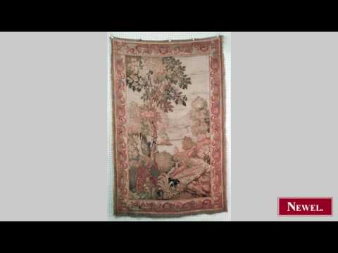 Antique French (19th Cent) Vertical Aubusson Wall Hanging