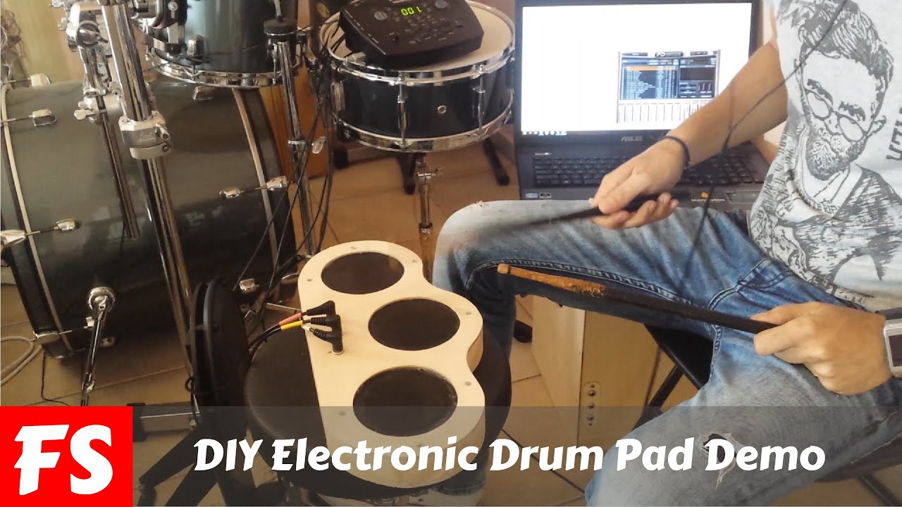DIY Electronic Drum Pad Demo With