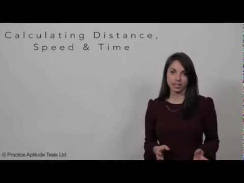 Calculating speed, distance & time
