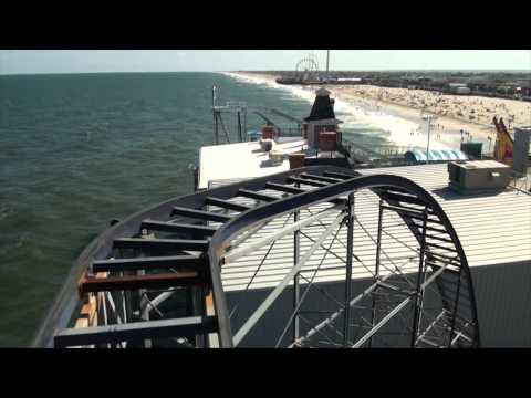 Star Jet  Roller Coaster POV Front Seat On-Ride Casino Pier Seaside Heights New Jersey Shore