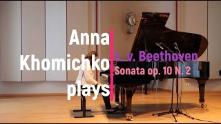 Beethoven Sonata op 10 N 2 in F Major I Anna Khomichko