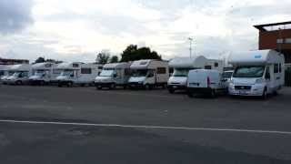 Campers Parked in Grosseto (Italy)