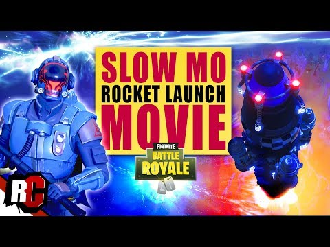 Fortnite  Slow Motion ROCKET LAUNCH Movie Rocket Cloesup Highlights  Season 5  Map Update