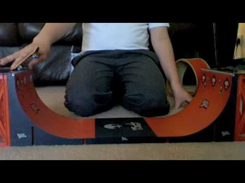 How To Do Tech Deck Tricks On The Halfpipe