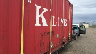 How to Unload a 5000 lb Shipping Container with a Car Jack - Not for the Faint of Heart