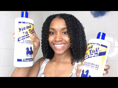 NATURAL HAIR CARE ROUTINE FT. MANE 'N TAIL   PROMOTES HAIR GROWTH & MOISTURE  