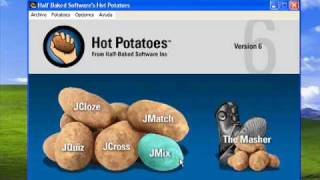 Hot Potatoes - Tutorial 1 - Jmix - reordenación