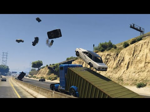 Ramp truck causing chaos in GTAV