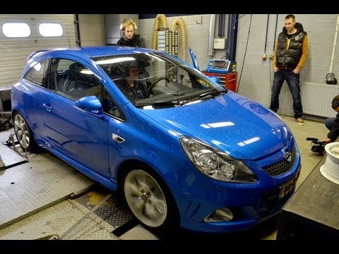 Op de rollenbank - Opel Corsa OPC