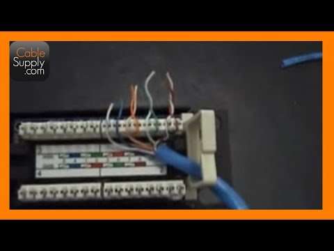 How to punch down a 12port patch panel  YouTube