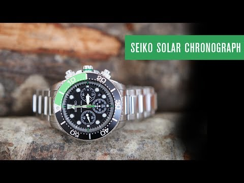 Seiko Chronograph Solar V175 | Test | REVIEW | DEUTSCH