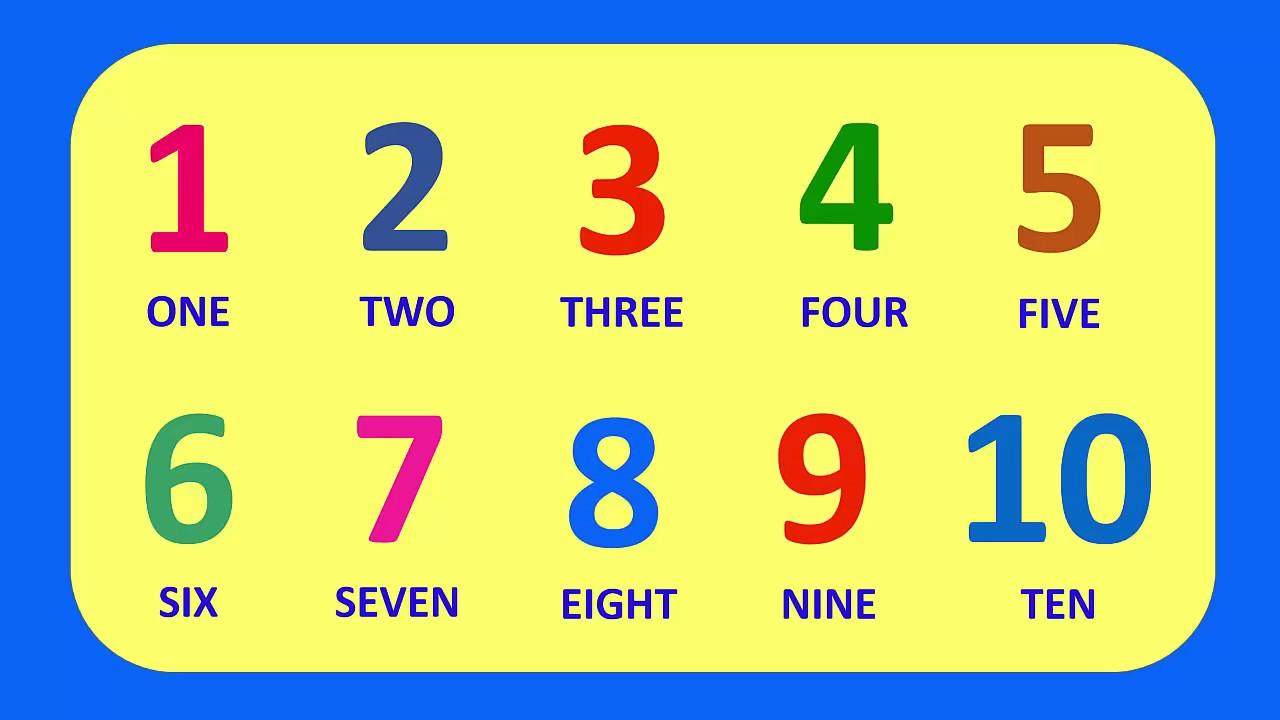 Learn English Numbers 1 10 Aprende Los Números En Ingles Youtube